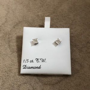 1/5 ct T.W DIAMOND QUAD EARRINGS